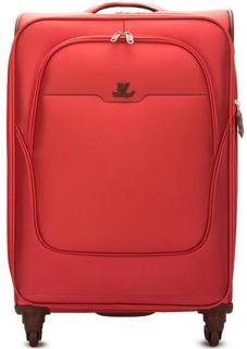 Текстильный чемодан на колесах с карманами Verage