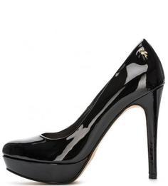 Черные туфли из искусственной кожи на каблуке Menbur