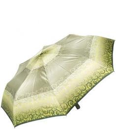 Зонт цвета хаки с куполом из сатина Doppler