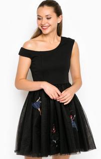 Короткое пышное платье на одно плечо Miss Sixty