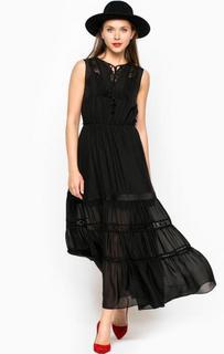 Длинное платье из шелка Miss Sixty