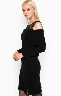 Черное платье с кружевной кокеткой Relish