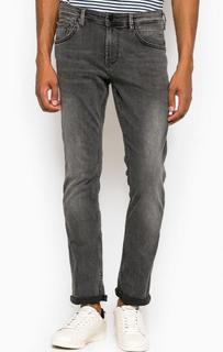 Зауженные серые джинсы с низкой посадкой Tom Tailor Denim
