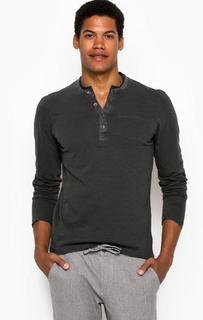 Хлопковая футболка в полоску с карманом Tom Tailor