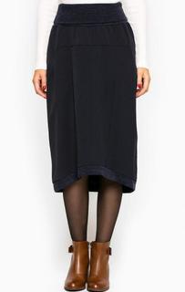 Синяя юбка средней длины Think Chic