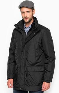 Черная куртка с восемью карманами Geox