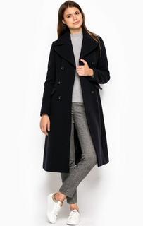 Длинное двубортное пальто из шерсти и полиамида Marc Opolo