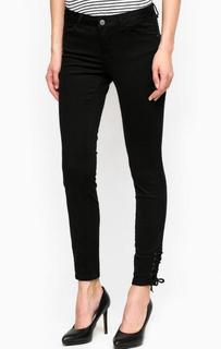 Черные укороченные брюки из хлопка Mavi