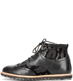Кожаные ботинки с замшевой отделкой Nobrand