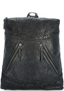 Кожаный рюкзак с перфорированными вставками Taschendieb