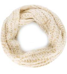 Бежевый шерстяной шарф-хомут Eleganzza
