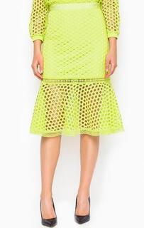 Ажурная салатовая юбка Miss Sixty