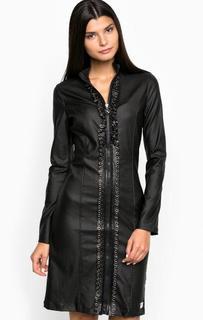 Черное платье на молнии MET