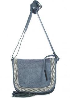 Маленькая сумка из натуральных кожи и меха через плечо Tyoulip Sisters