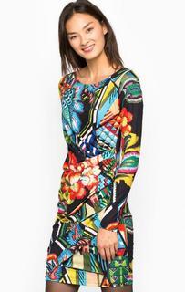 Короткое разноцветное платье Desigual
