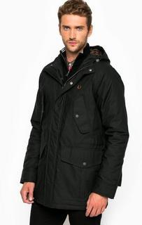 Черная зимняя куртка из хлопка Fred Perry