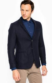 Синий пиджак с запонкой для лацкана Liu Jo Uomo