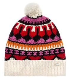 Разноцветная шапка из шерсти Maison Scotch