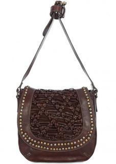 Кожаная сумка через плечо с плетением Taschendieb
