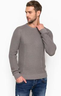 Серый трикотажный свитер Tom Tailor Denim