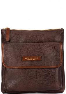 Кожаная коричневая сумка через плечо THE Bridge
