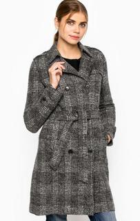Двубортное пальто из шерсти с поясом Marc Opolo