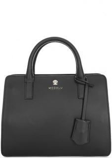 Маленькая кожаная сумка черного цвета Modalu London