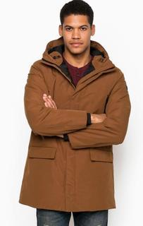 Удлиненный коричневый пуховик Armani Jeans