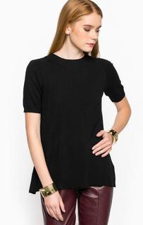 Джемпер с короткими рукавами черного цвета Relish