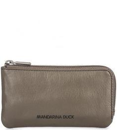 Ключница из натуральной кожи на молнии Mandarina Duck