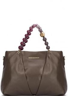 Кожаная сумка с одним отделом Roberta Gandolfi