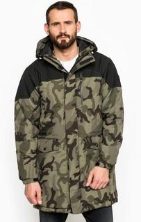 Камуфляжная куртка на молнии и липучках Replay