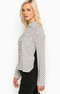Блуза в горошек с нагрудным карманом Kocca