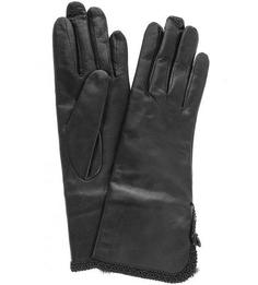 Кожаные перчатки с меховой подкладкой Bartoc