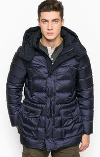 Зимний пуховик со съемным капюшоном Woolrich