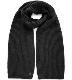 Вязаный черный шарф Tom Tailor Denim
