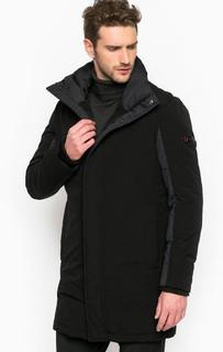 Удлиненная однотонная куртка на молнии и кнопках Strellson