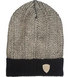 Золотистая шапка из акрила EA7