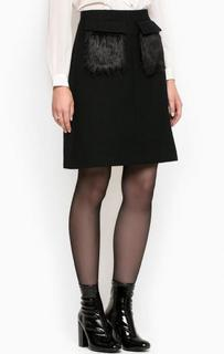 Черная юбка расклешенного кроя Miss Sixty