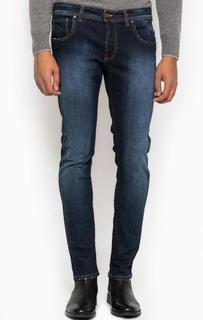 Зауженные джинсы с легкими потертостями Liu Jo Uomo
