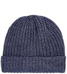 Вязаная синяя шапка из акрила и шерсти Liu Jo Uomo