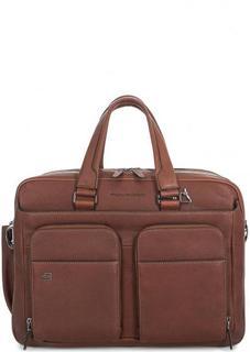 Кожаная сумка коричневого цвета Piquadro