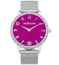 Часы круглой формы со стальным браслетом Morgan