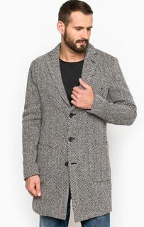 Пальто из шерсти и акрила на пуговицах Replay