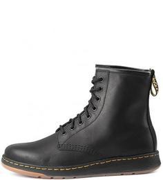 Высокие демисезонные ботинки из натуральной кожи Dr. Martens