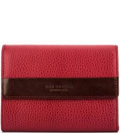Бордовый кожаный кошелек с откидным клапаном THE Bridge