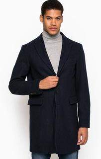 Классическое синее пальто с четырьмя карманами Armani Jeans