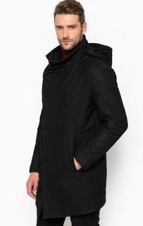 Утепленное пальто со съемным капюшоном Drykorn