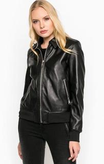 Черная кожаная куртка Replay