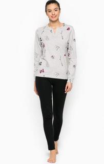 Хлопковый комплект из футболки и брюк Emporio Armani
